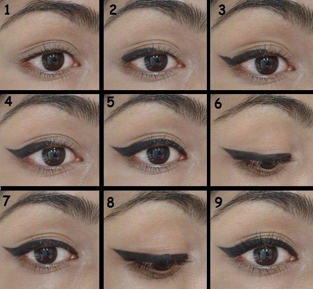 Commit error. Winged eyeliner step by step already