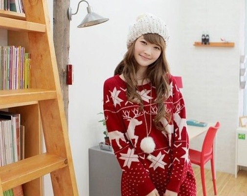 Women-s-Long-Sleeves-Casual-Red-Christmas-Sweaters-Fashion-Round-Neck-Snowflake-Elk-Sweater-Tops