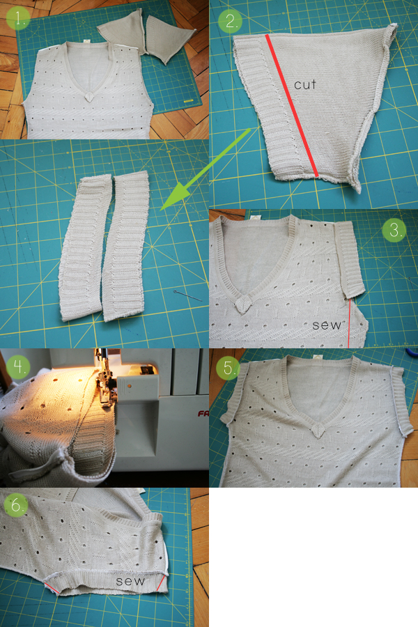 knitted top tutorial