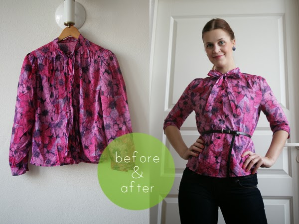 pussy bow blouse makeover