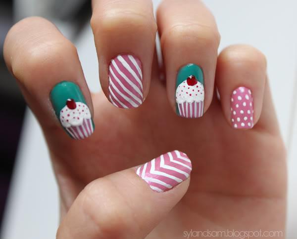 Cupcake Nail Art Design : 18 Cute Cupcake Nails