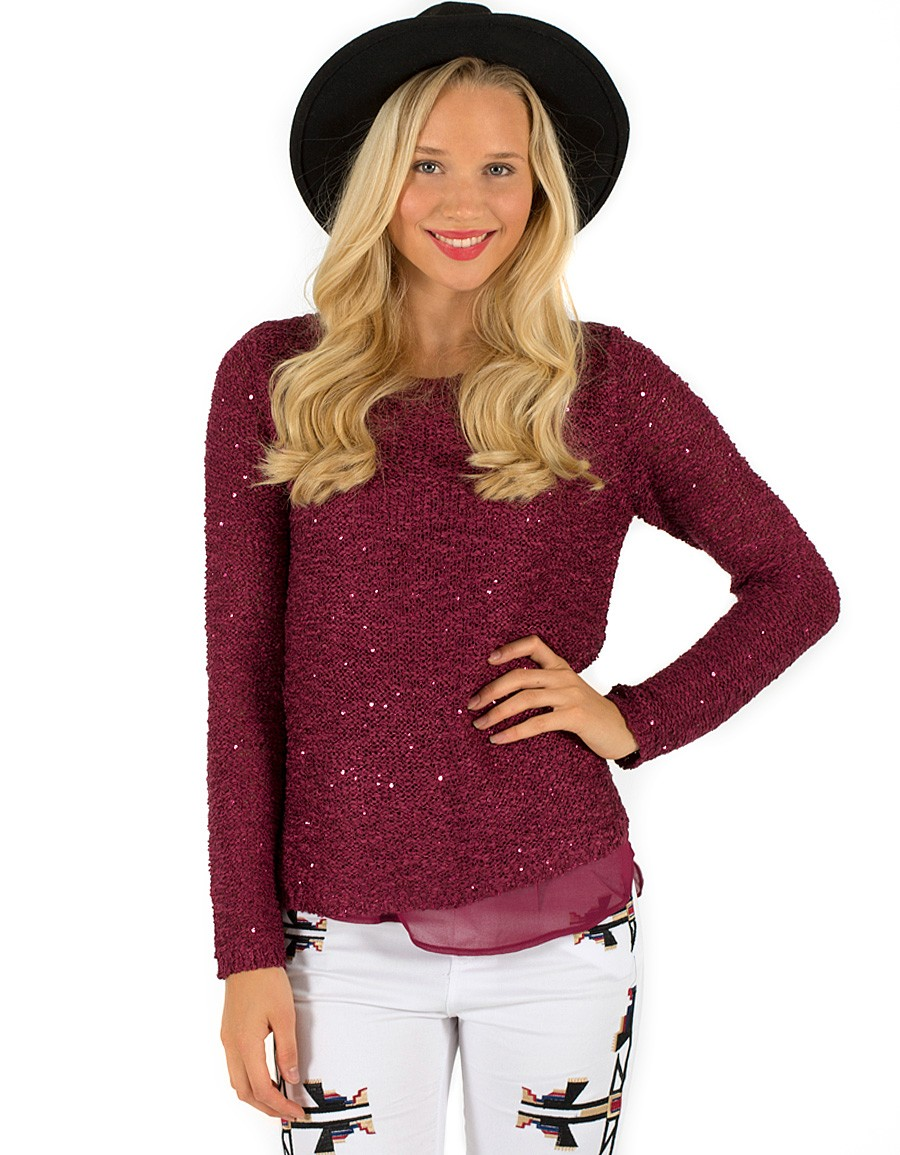 17 SEQUIN KNIT SWEATERS
