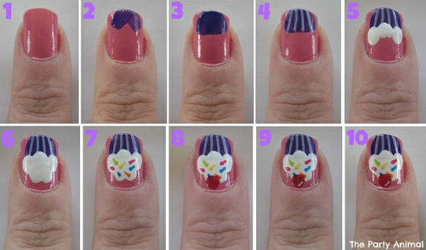 18 cute cupcake nails 2012 04 2610 26 22305622x621 prinsesfo Image collections