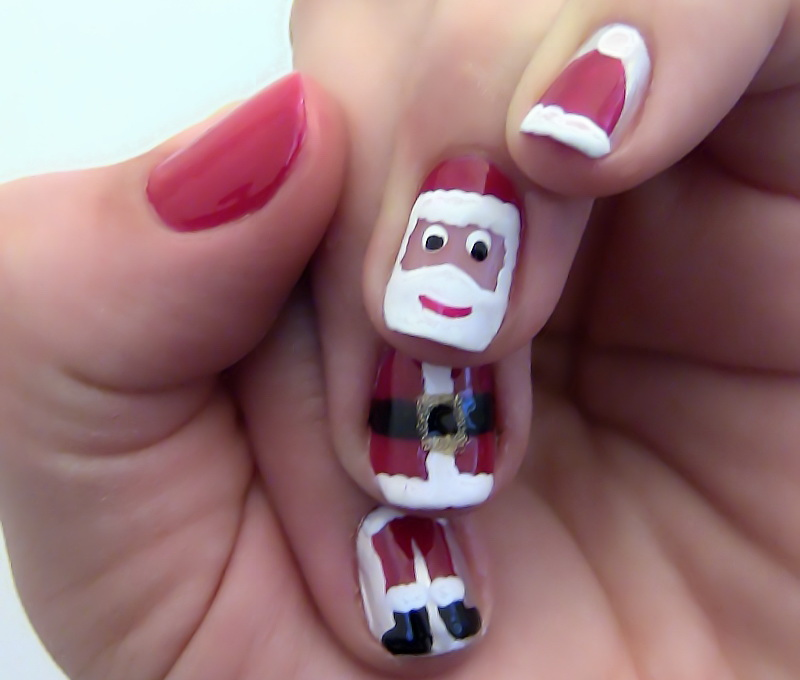 Christmas-Nail-Art-Designs-With-Santa-Clous