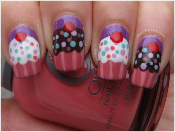 Yoko Nail Art Cupcake : 18 Cute Cupcake Nails