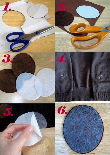 Elbow patches collage