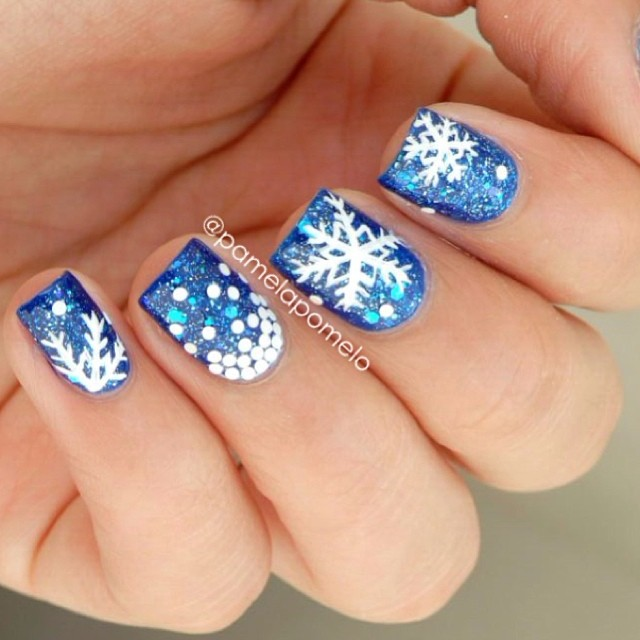 Snowflake Nail Art Tutorial: Let It Snow On Your Nails