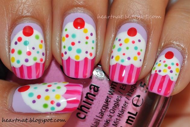 18 cute cupcake nails cupcake nail art design 5 prinsesfo Gallery