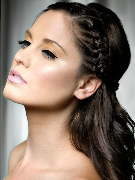 hairstyle-with-party-makeup
