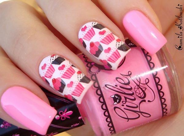 pink-cupcakes-girly-party-nails
