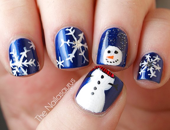 Let it snow on your nails 20 snowflake nail arts snowflake nail art 2 prinsesfo Image collections