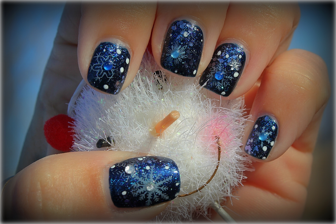Let It Snow On Your Nails 20 Snowflake Nail Arts