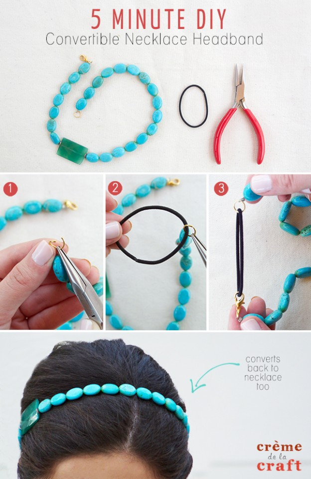 DIY-Convertible-Recycled-Necklace-Headband-Craft-Project-Jewelry-Accessories-Fashion