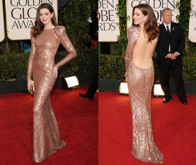 Golden Globes 2011 best dressed Anne Hathaway in Armani Privé