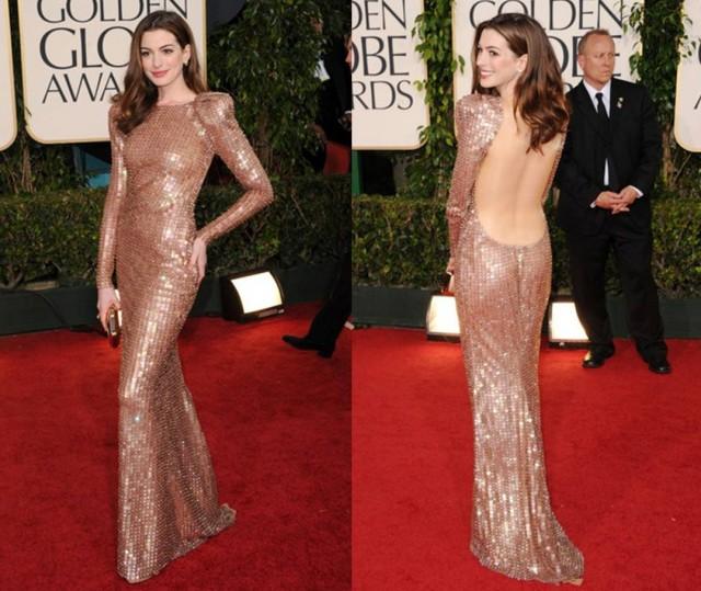 Golden Globes 2011 best dressed Anne Hathaway in Armani Privé