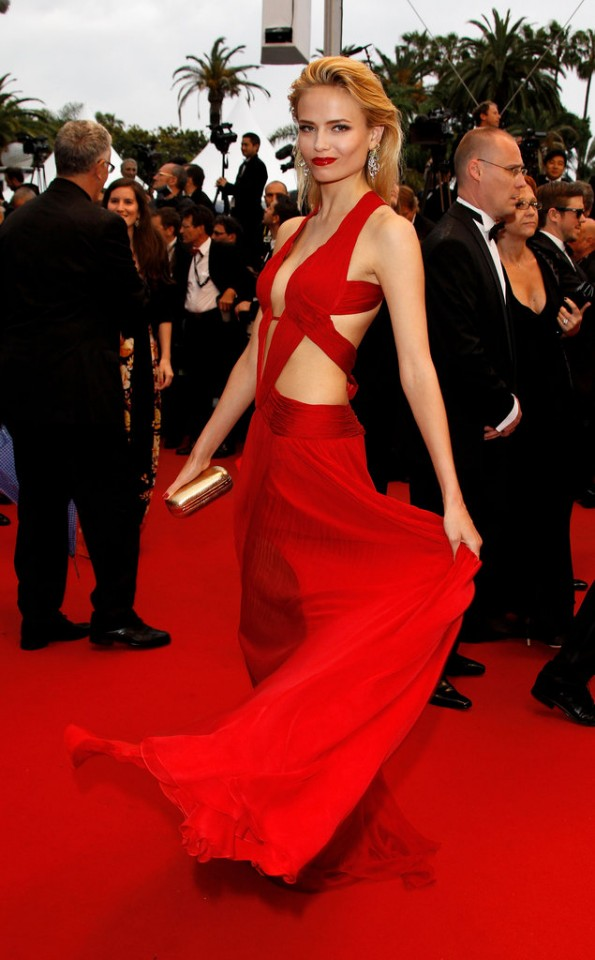 Natasha-Poly-channeled-sexiest-kind-glam-skin-baring-red-cutout-gown-Cosmopolis-premiere-Cannes