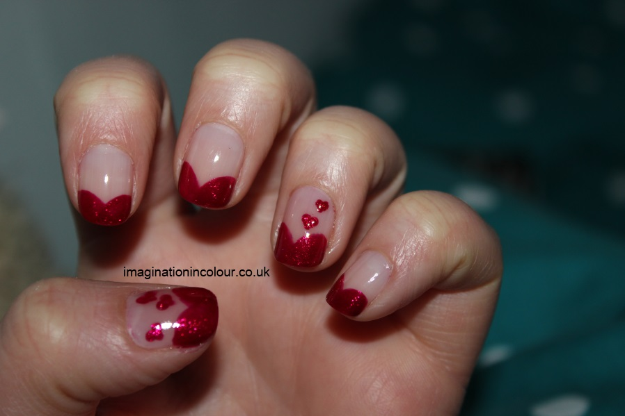 Valentines-Day-Nail-Art-heart-hearts-pink-red-french-tips-OPI-You-Only-Live-Twice-cranberry-love-easy-design-short-nails-2