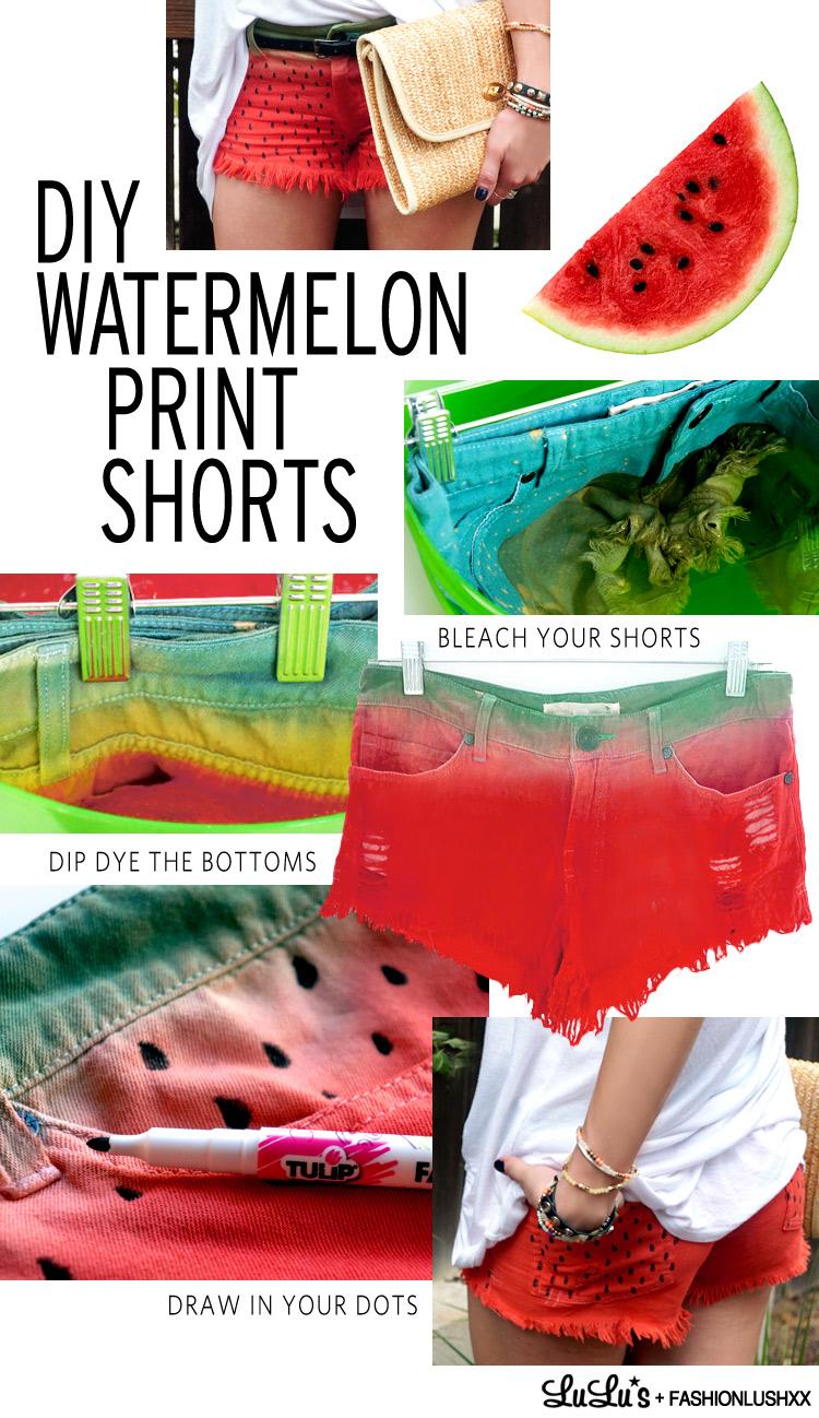 WatermelonPrintShorts