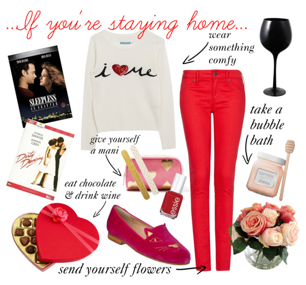 What to wear on Valentine s day... if you re staying home   Polyvore