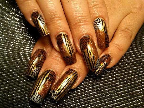 باظافرك =Nail Art =طلاء اظافر =نقوش الحيوانات