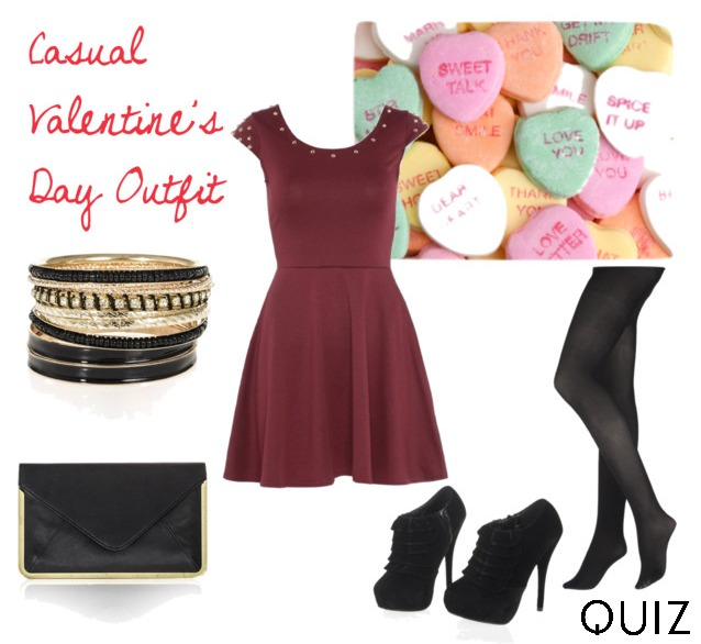 casual valentine's day outfit look what to wear date night quiz clothing polyvore collage