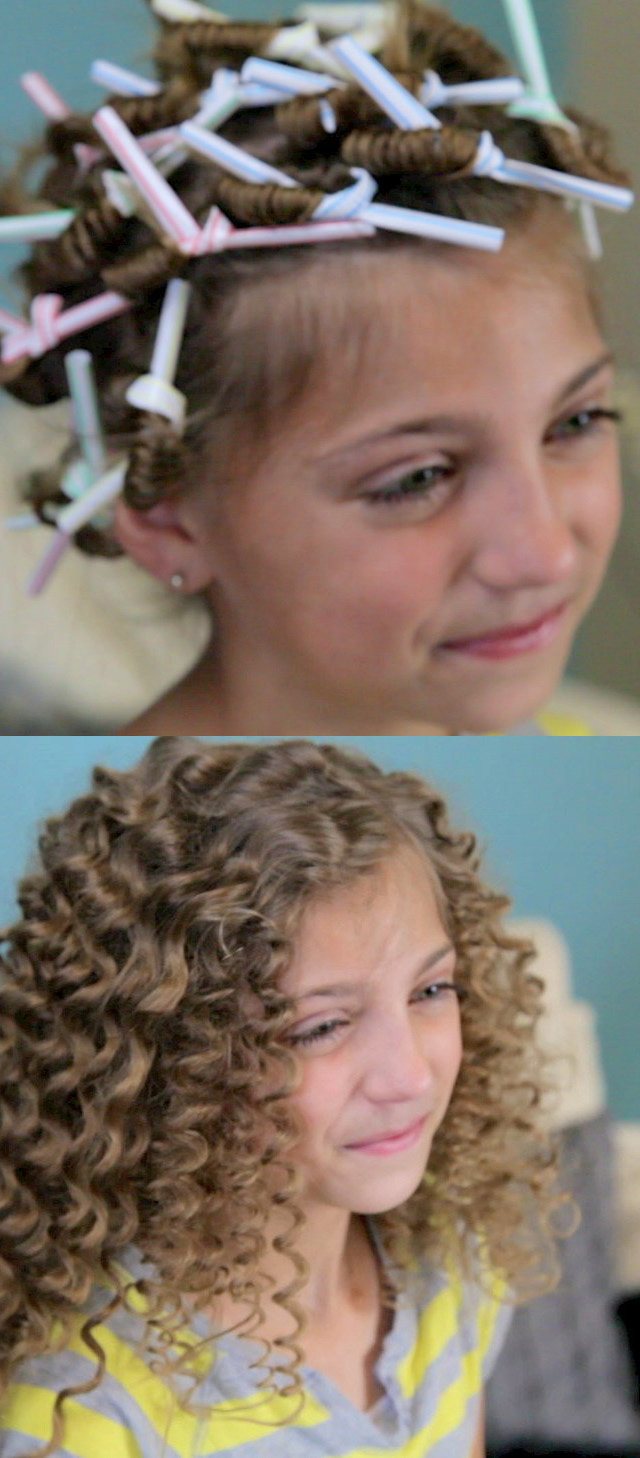 curl straw hairstyle