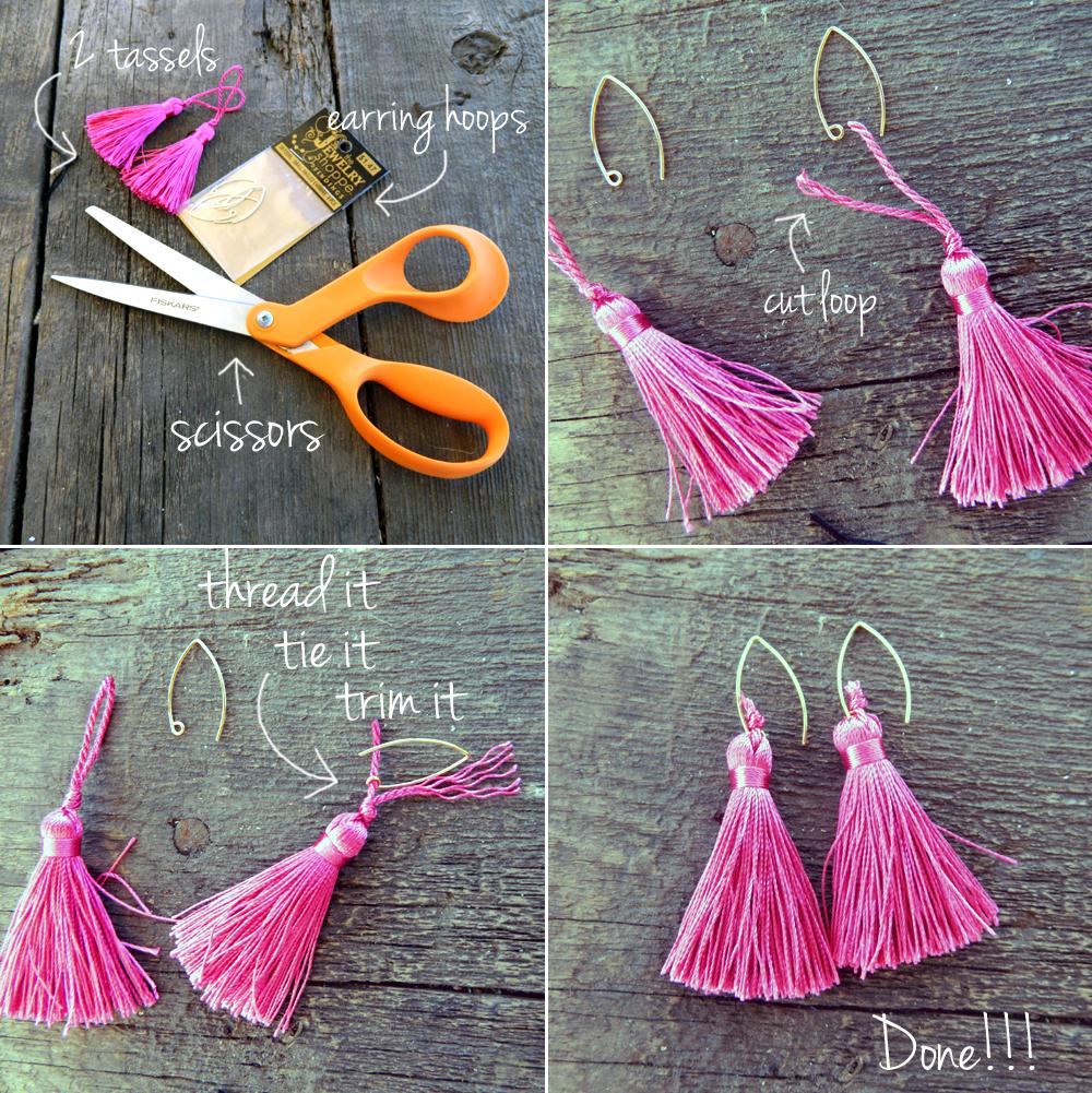 diy tassel earrings 1