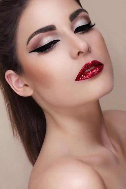 glitter-red-lips
