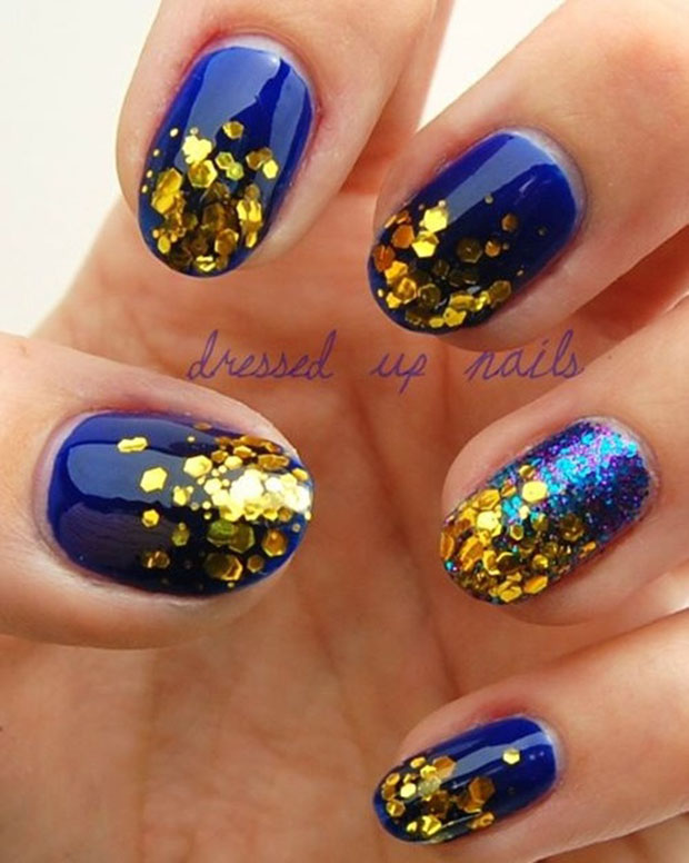Golden Nails Art Design