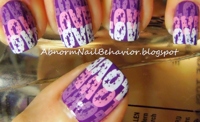 purple-love-stamp-gradient-valentine-nails