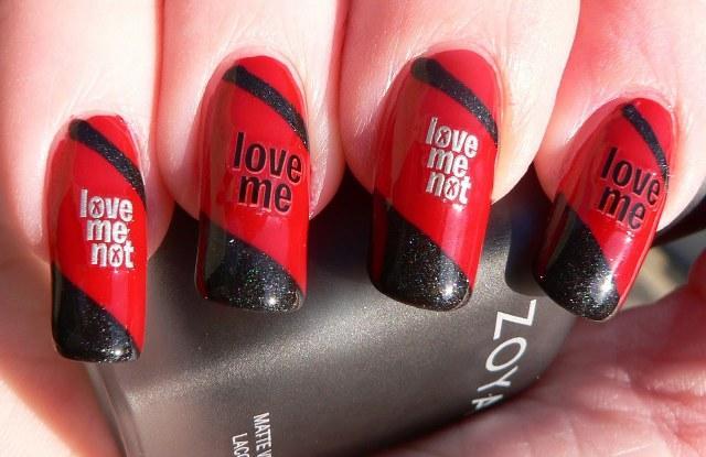 red-love-nail-art