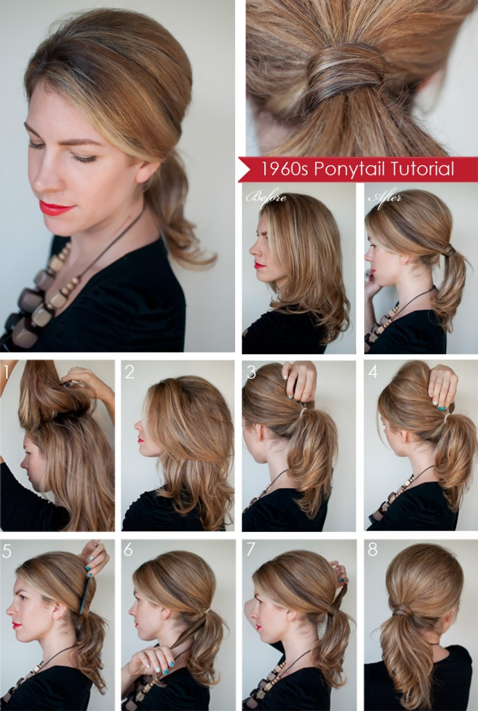 easy ponytail styles for long hair 15 and easy ponytails 7794 | tutorials for hairstyles 3 689x1024