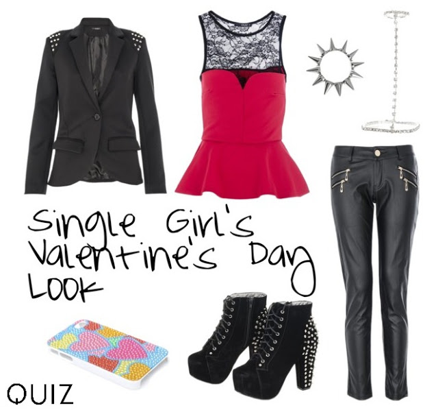 what to wear valentine's day if you're single rocker chic outfit polyvore quiz clothing