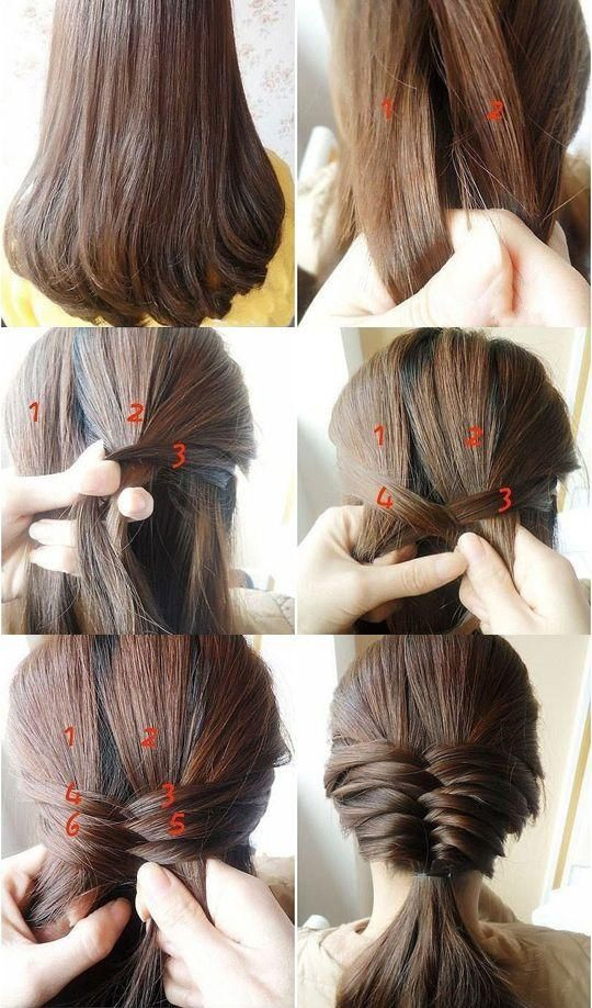 Swell 15 Simple Step By Step Hairstyles Hairstyle Inspiration Daily Dogsangcom