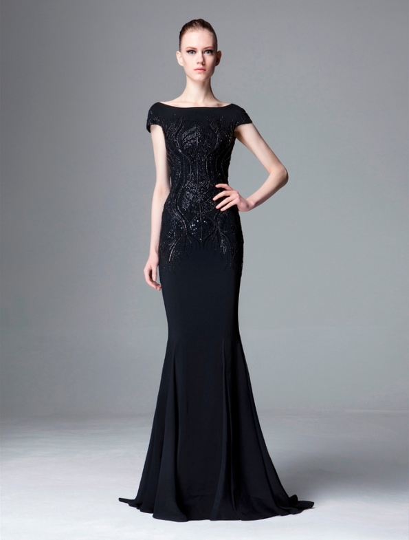 Pre Made Vintage Looking Formal Dresses Long Fashion Dresses