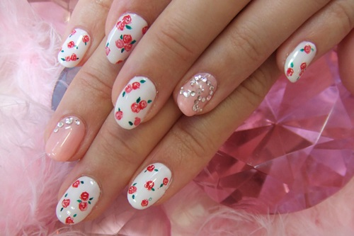 21 vintage floral nail designs summer floral nail art mightylinksfo