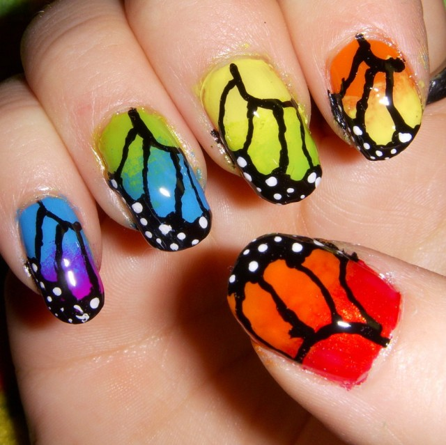 cute nail art butterfly 11