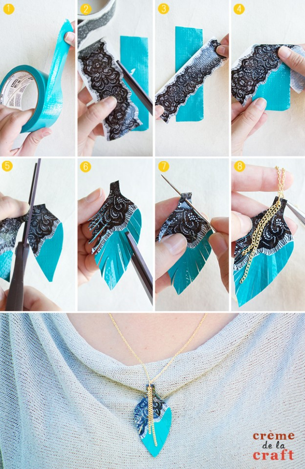 DIY-Duct-Tape-Crafts-Projects-Necklace-Jewelry-Fashion-Unique-Idea-Tutorial