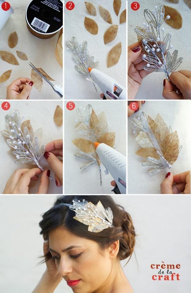 Diy Wedding Bridal Hair Piece Sash Comb Hairpiece