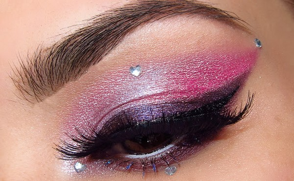 party pink and purple makeup ideas