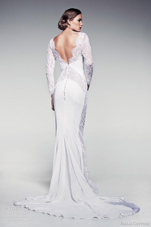 pallas-couture-bridal-2014-fleur-blanche-caressa-long-sleeve-sheath-wedding-dress-back-train