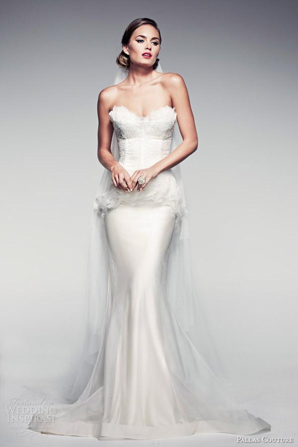 pallas-couture-bridal-2014-fleur-blanche-fleurette-strapless-peplum-wedding-dress