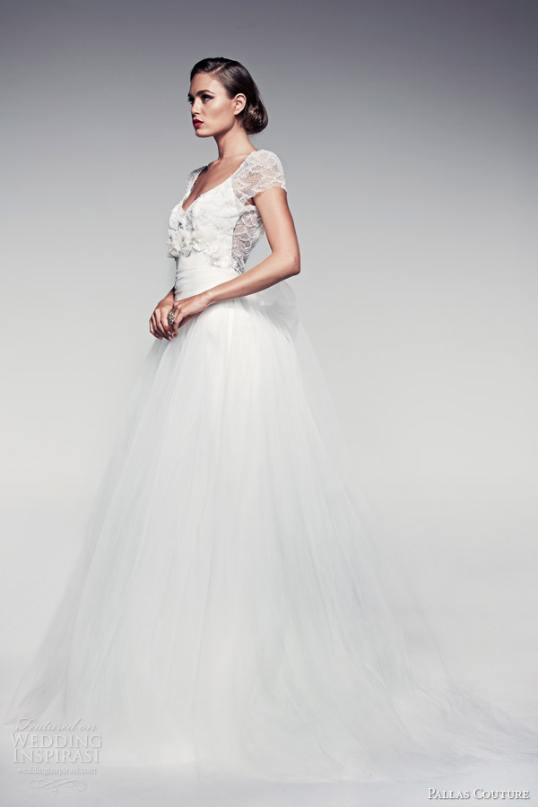 pallas-couture-wedding-dresses-2014-fleur-blanche-bridal-maiya-short-sleeve-detachable-tulle-skirt-ball-gown