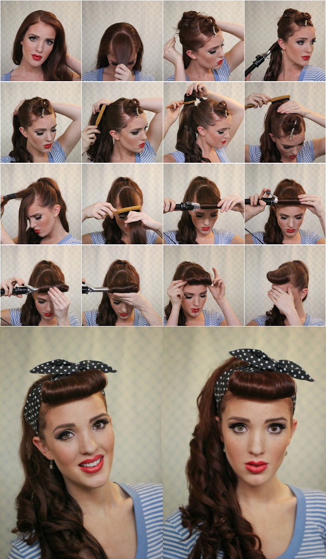 50s pin up hairstyles : image via www.freckled-fox.com image via chicbeyondbelief.wordpress ...