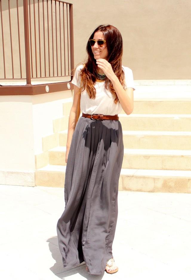 15 moda Street Style de equipamentos com calças Palazzo