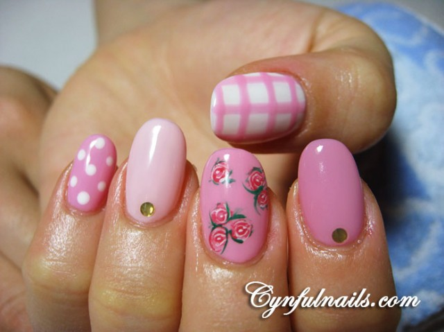99478_acrylic w gelish shades of pink 140