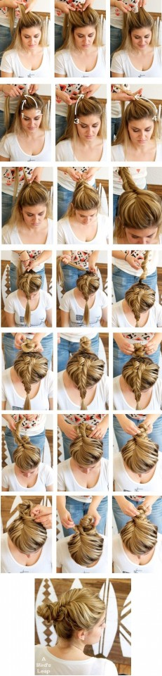 Fishtail-Braided-Bun-Hairstyles-Tutorial-Girl-Hairstyles-for-Long-Hair