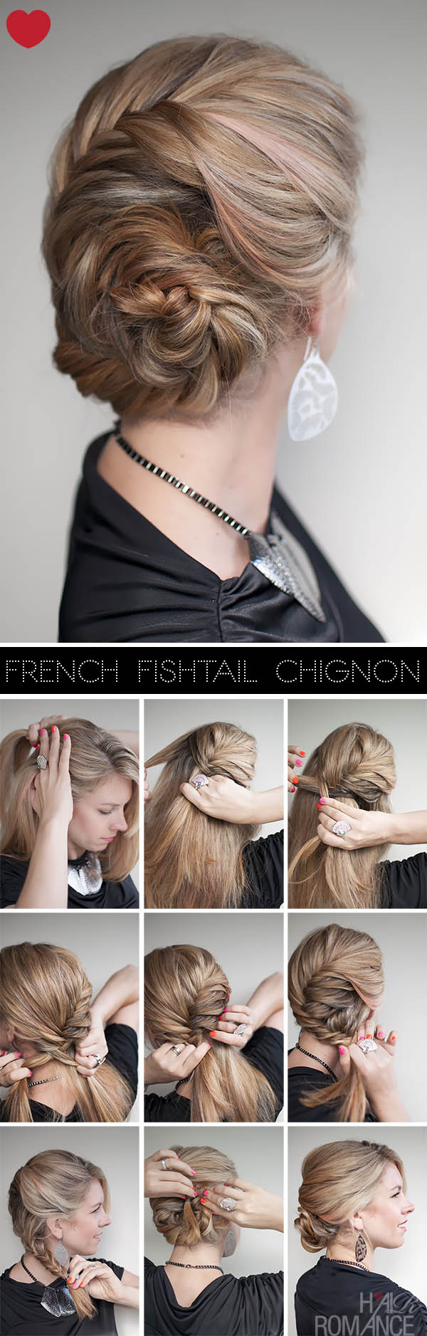 14 Fishtail Braided Hair Tutorials