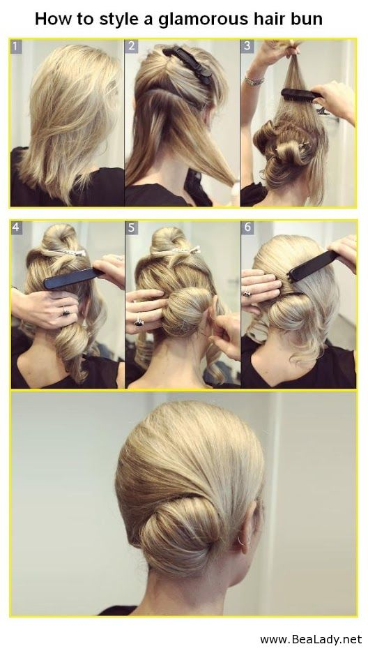 How+to+style+a+glamorous+hair+bun