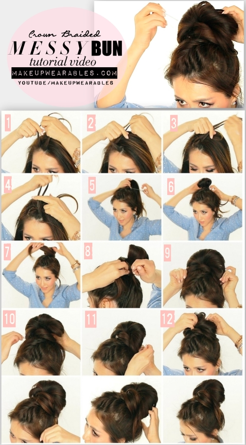 How-to-French-Fishtail-Braid-Messy-Bun-Hairstyle-Tutorial-Video-for-Medium-Long-Hair